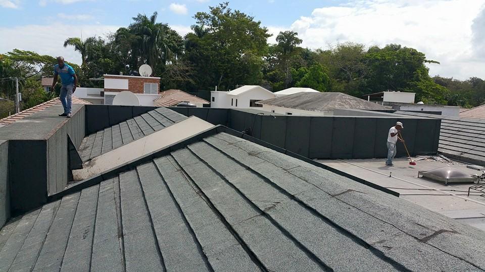 Impermeabilizante de techo con tela asfaltica, Espacio a Nivel